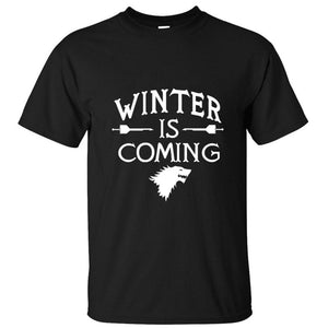 Game of Thrones - Winter is Coming Bold Print - T-Shirt-Fandomsky