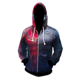 Unisex Spider-Man Hoodies Iron Spider-Man Stealth Battle Suit Zip Up 3D Print Jacket Sweatshirt-Fandomsky