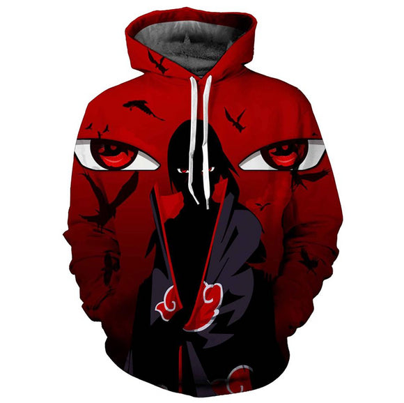 Unisex 3D Printed Fashion Hoodies Anime Naruto Jacket Pullover Cosplay Costumes-Fandomsky