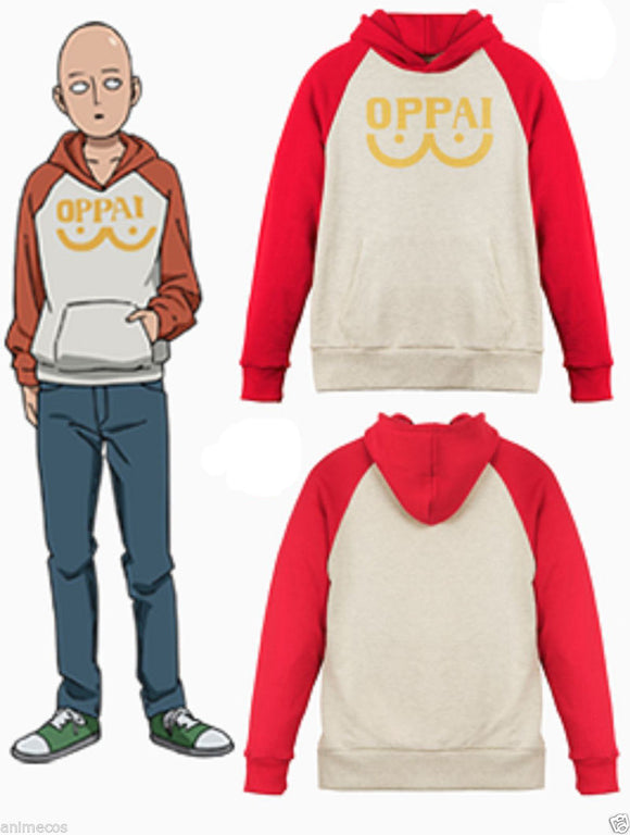 One Punch Man Print Hoodie Costume Adult-Fandomsky