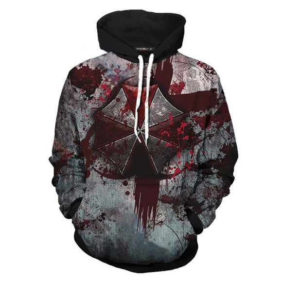 Unsiex Umbrella Corporation Hoodies Resident Evil Pullover 3D Print Jacket Sweatshirt