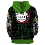 Unisex Demon Slayer: Kimetsu no Yaiba Hoodies Kamado Tanjirou Printed Pullover Jacket Sweatshirt