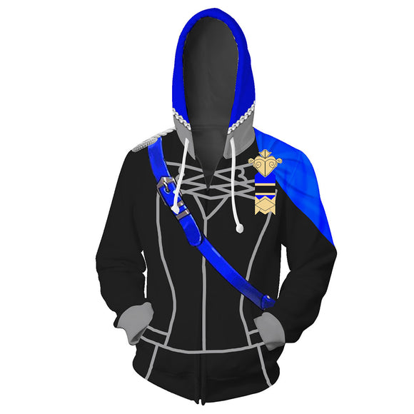 Unisex Host Game Fire Emblem: ThreeHouses Blue Lion 3D Printed Hoodie