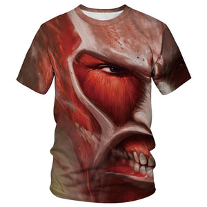 Japanese Anime Attack On Titan Cosplay Costume Tshirt-Fandomsky