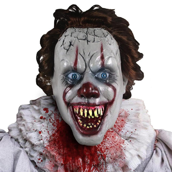 Halloween Stephen King's It Chapter Two Horror Pennywise Mask Cosplay Latex Masks Helmet Party Props