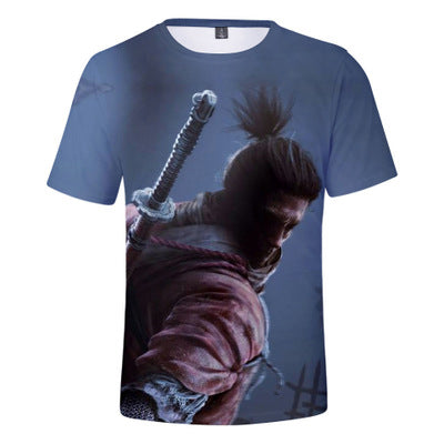 Unisex SEKIRO: Shadows Die Twice Printed T-shirt Spring Summer Crewneck Short Sleeve Tops Clothes