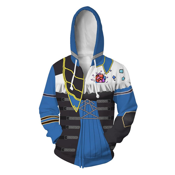 Unisex Miriam Hoodies Bloodstained: Ritual of the Night Zip Up 3D Print Jacket Sweatshirt-Fandomsky