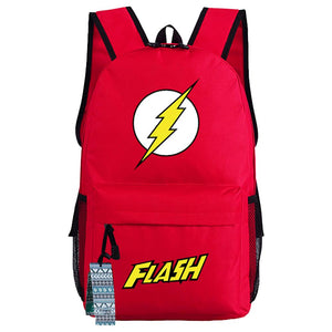 Movie DC Superhero The Flash Backpack Oxford Fabric School Travel