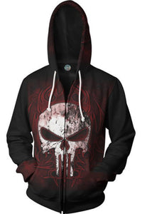 Marvel Punisher Skeleton Hoodie Sweatershit