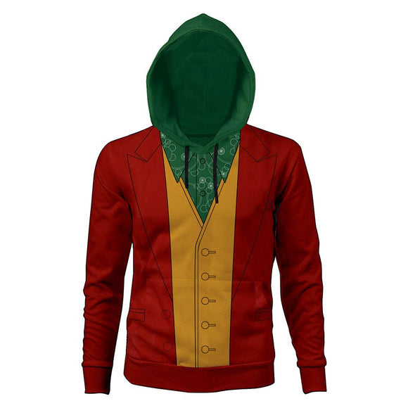 Unisex 2019 Movie Joker Hoodie Arthur Fleck Cosplay Hooded Pullover Sweatshirt Cosplay Costume