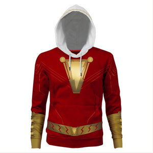 Men's Captain Billy Batson Hoodie Adult 3D Print Jacket Cosplay Costume Sweatshirt-Fandomsky