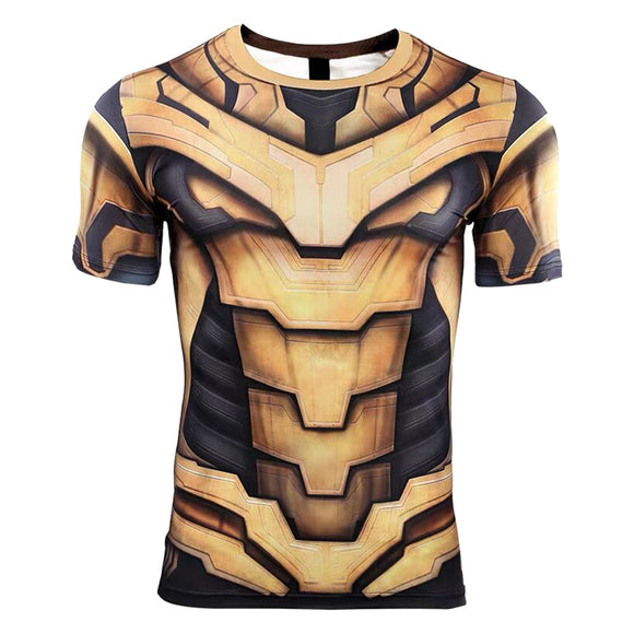 Avengers Thanos Shirt Mens Compression Superhero T-Shirt Costume Cosplay Shirt