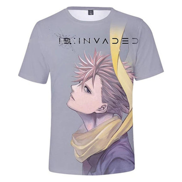 Unisex ID:INVADED T-shirt Narihisago Akihito Printed Summer O-neck T-shirt Casual Street Shirts