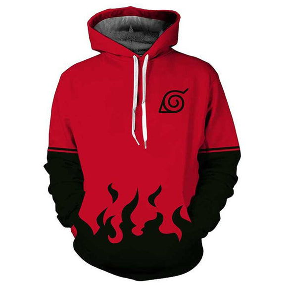 Men Naruto Long Sleeve Jacket Hooded Sweater-Fandomsky