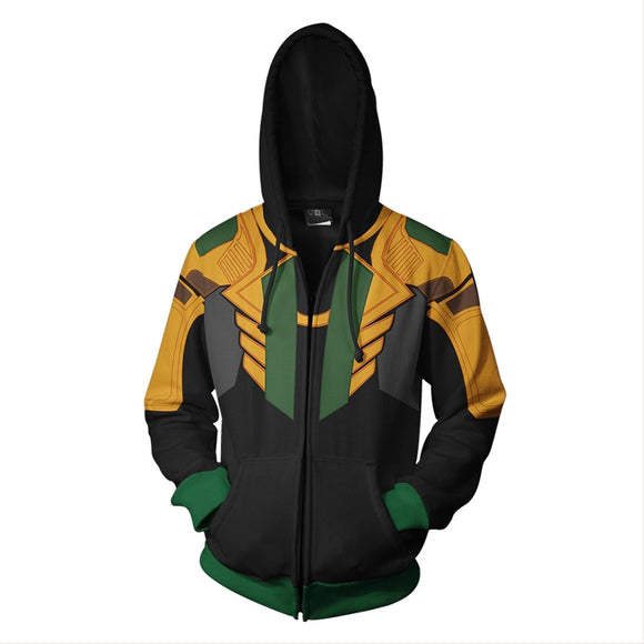 Loki Hoodie Avengers Cosplay Costume Adult Sweatshirt Jacket Coat Clothing for Spring Autumn
