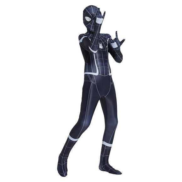 Kids Spider-Man: Homecoming Cosplay Costume Black Spider-Man Superhero Zentai Bodysuit Halloween Costume