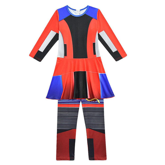Kids Halloween Costume Descendants 3 Evil Cosplay Jumpsuit
