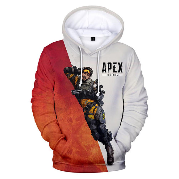 Unisex Apex Legend Hoodies Casual Novelty Pullover 3D Print Game Sweatershirts Hoodie