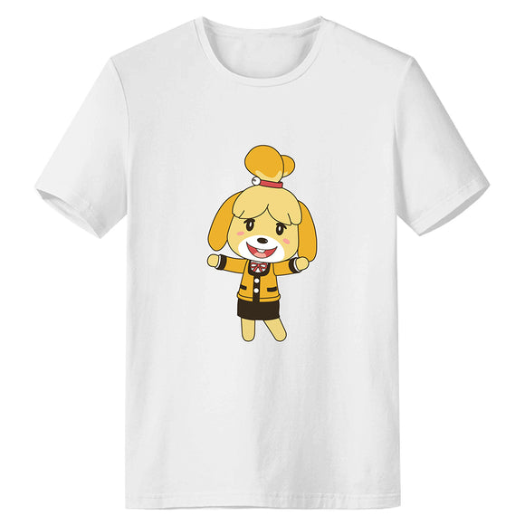 Unisex Animal Crossing T-shirt Isabelle Printed Summer O-neck T-shirt Casual Street Shirts
