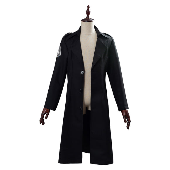 Unisex Attack on Titan Survey Corps Cosplay Cloak Cape 3D Print Jacket Long Coat