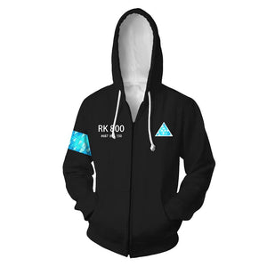 Detroit Become Human Hoodie Unisex 3D Print Baseball Jacket Coat