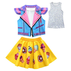 Kids Girls Jojo Siwa Set Sleeveless Jacket Vest Dress Cosplay Costume Clothing Jojo Siwa Suit Clothes