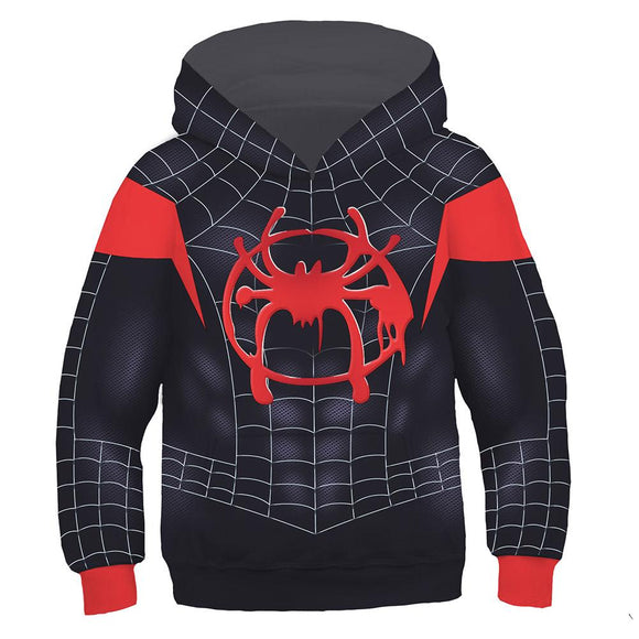 Kids Spider-Man: Into the Spider-Verse Miles Morales 3D Pullover Sweatshirt-Fandomsky