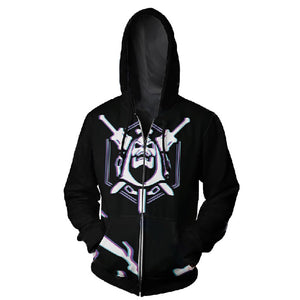 Men's Hoodie Game Skeleton Series Zipped Jacket Hoodie Cosplay Costume