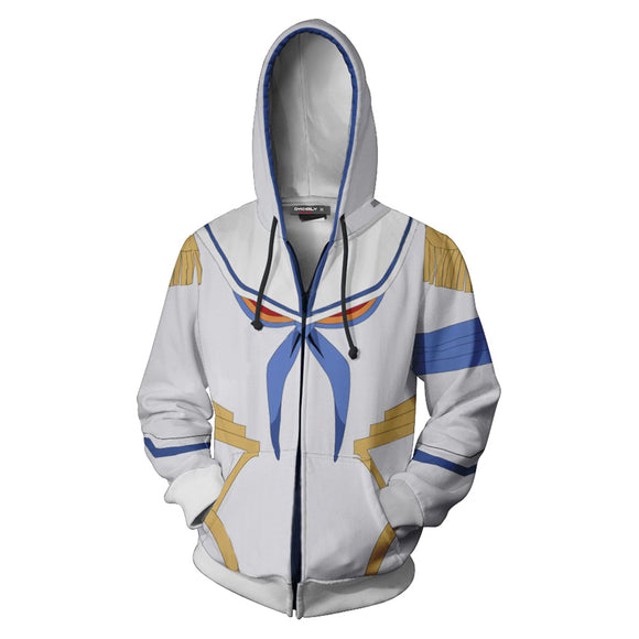 Unisex Satsuki Kiryuin Hoodies KILL la KILL Zip Up 3D Print Jacket Sweatshirt-Fandomsky