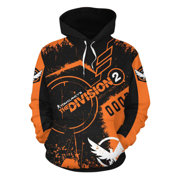 Unisex Vedio Game Hoodies Tom Clancy's The Division Pullover 3D Print Jacket Sweatshirt-Fandomsky