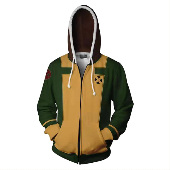 X-Men:Rogue Jacket Hoodie Hooded Sweatshirt Costume-Fandomsky