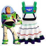 Kids Girls Buzz Lightyear Dress Toy Story 3D Print Cosplay A Line Dress-Fandomsky