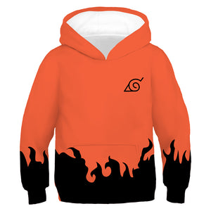 Toddler Kids Anime Naruto Hoodie for Boys Uzumaki 6th Cosplay Costume Pullover Sweatshirt Outerwear-Fandomsky