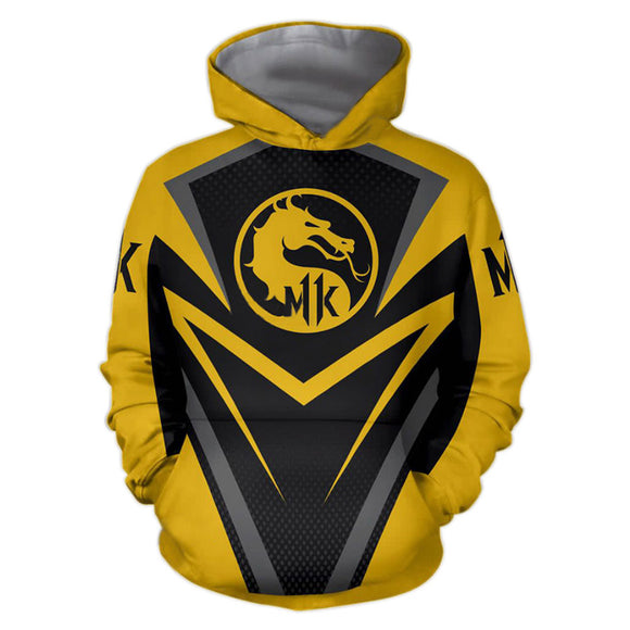 Mortal Kombat 11 Hoodie Zipper Up Jacket Cosplay Costume-Fandomsky