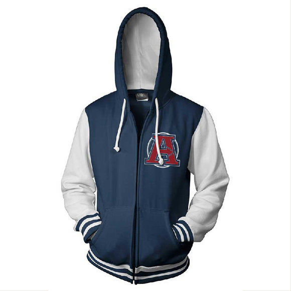 The Avengers Hoodie Hooded Sweatshirt  Zipper Up Jacket Cosplay Costume