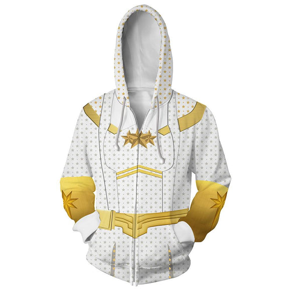 Unisex Starlight Hoodies The Boys Zip Up 3D Print Jacket Sweatshirt