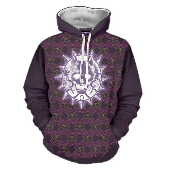 Unisex JoJo's Bizarre Adventure Hoodies Sheer Heart Attack Printed Pullover Jacket Sweatshirt