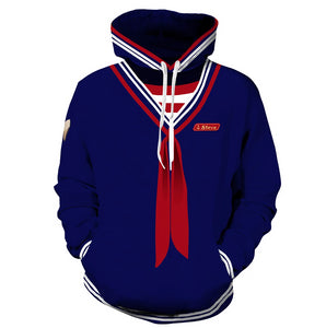 Teen Hoodie Stranger Things Scoops Ahoy Steve Cosplay Costume Unisex-Fandomsky