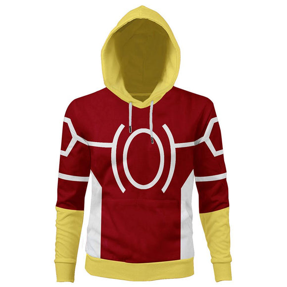 Unisex My Hero Academia Hoodie All Might Cosplay Hooded Pullover Sweatshirt Cosplay Costume