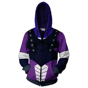 JoJo's Bizarre Adventure Jacket Dio Brando Hooded Hoodie Sweatshirt-Fandomsky