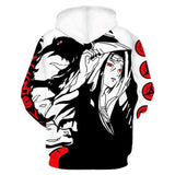 Unisex Anime Naruto Hooded Hip Hop Sweatshirt 3D Naruto Hoodies Pullover Casual Top