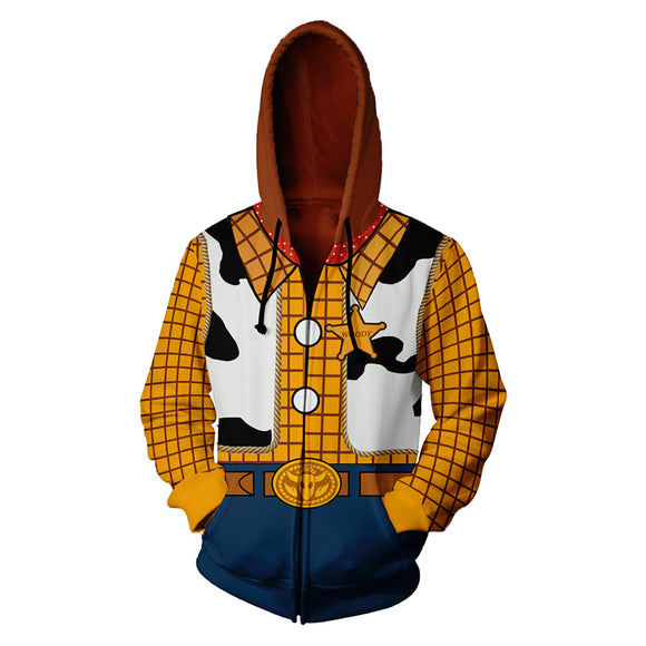 Toy Story 3D Sweater Cosplay Anime Zipper Cardigan Hooded Sports Jacket Hoodie