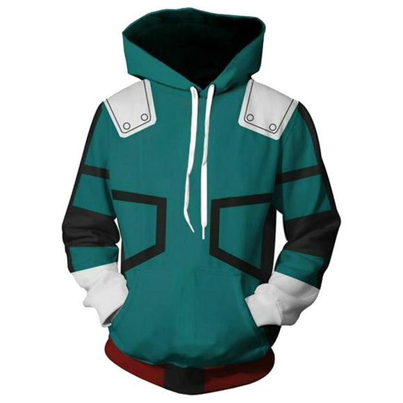 Boku No Hero Academia My Hero Academia Izuku Midoriya Hooded Jacket Sweatshirt