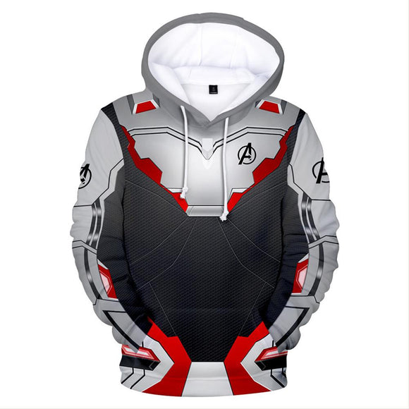 Adult Quantum Realm Hoodie Endgame Cosplay Costume Print Zipper Jacket Sweatshirt-Fandomsky