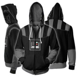 Star Wars Darth Vader Fleece Zip Costume Hoodie-Fandomsky
