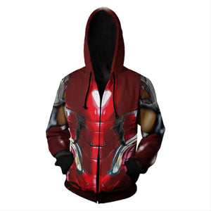 Adult Endgame Ironman Hoodie Halloween Cosplay Costume Hooded Sweatshirts-Fandomsky