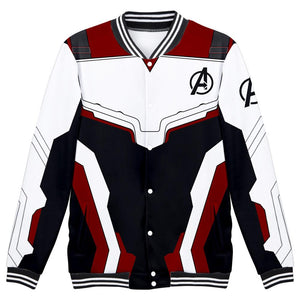 Avenger's Endgame Quantum Realm Cosplay Costume Baseball Jacket Long Sleeve Coat-Fandomsky