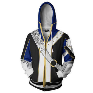 Fire Emblem Heroes Young Lion Roy Zip Up Hoodie Hooded Coat Jacket