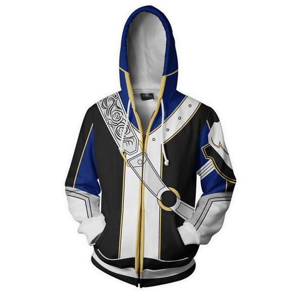 Fire Emblem Heroes Young Lion Roy Zip Up Hoodie Hooded Coat Jacket-Fandomsky