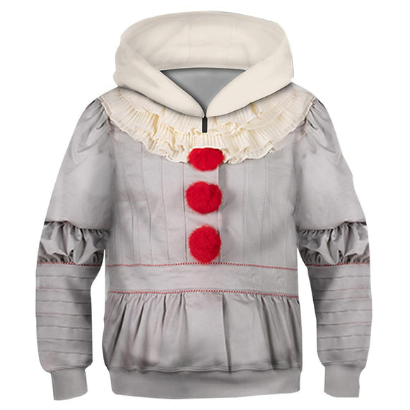 Unisex Pennywise Hoodies Stephen King's It: Chapter Two Pullover 3D Print Jacket Sweatshirt